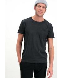 schwarzes T-Shirt mit einem Rundhalsausschnitt von GARCIA
