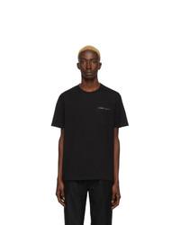 schwarzes T-Shirt mit einem Rundhalsausschnitt von Givenchy