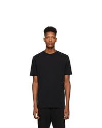 schwarzes T-Shirt mit einem Rundhalsausschnitt von Haider Ackermann