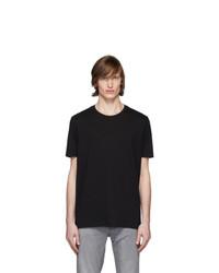 schwarzes T-Shirt mit einem Rundhalsausschnitt von Hugo
