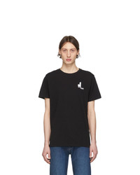 schwarzes T-Shirt mit einem Rundhalsausschnitt von Isabel Marant