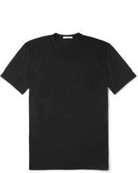 schwarzes T-Shirt mit einem Rundhalsausschnitt von James Perse