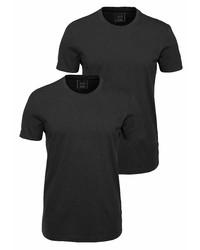 schwarzes T-Shirt mit einem Rundhalsausschnitt von John Devin