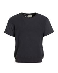 schwarzes T-Shirt mit einem Rundhalsausschnitt von khujo