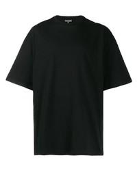 schwarzes T-Shirt mit einem Rundhalsausschnitt von Lanvin