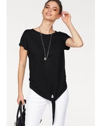 schwarzes T-Shirt mit einem Rundhalsausschnitt von Laura Scott
