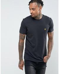 schwarzes T-Shirt mit einem Rundhalsausschnitt von Lyle & Scott