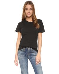 schwarzes T-Shirt mit einem Rundhalsausschnitt von Madewell
