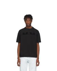 schwarzes T-Shirt mit einem Rundhalsausschnitt von Maison Margiela