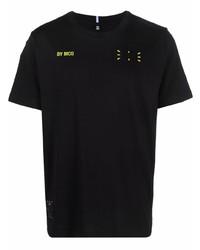 schwarzes T-Shirt mit einem Rundhalsausschnitt von McQ