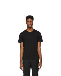 schwarzes T-Shirt mit einem Rundhalsausschnitt von Moncler