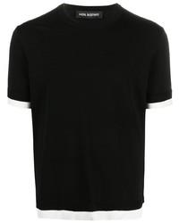 schwarzes T-Shirt mit einem Rundhalsausschnitt von Neil Barrett