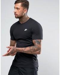 schwarzes T-Shirt mit einem Rundhalsausschnitt von Nike