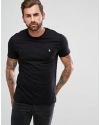 schwarzes T-Shirt mit einem Rundhalsausschnitt von Original Penguin