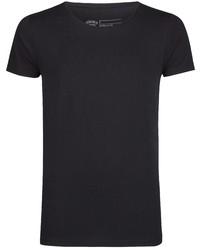 schwarzes T-Shirt mit einem Rundhalsausschnitt von Petrol Industries