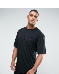 schwarzes T-Shirt mit einem Rundhalsausschnitt von Polo Ralph Lauren
