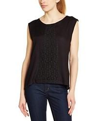 schwarzes T-Shirt mit einem Rundhalsausschnitt von Rip Curl
