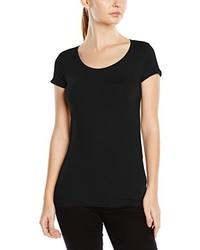 schwarzes T-Shirt mit einem Rundhalsausschnitt von Stedman Apparel