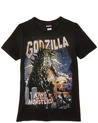 schwarzes T-Shirt mit einem Rundhalsausschnitt