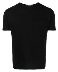 schwarzes T-Shirt mit einem Rundhalsausschnitt von Tagliatore