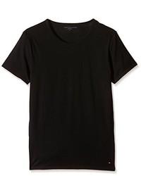 schwarzes T-Shirt mit einem Rundhalsausschnitt von Tommy Hilfiger