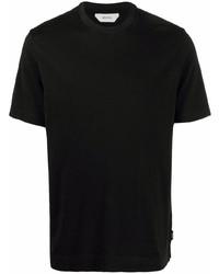 schwarzes T-Shirt mit einem Rundhalsausschnitt von Z Zegna