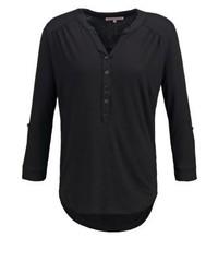 schwarzes T-shirt mit einer Knopfleiste von Anna Field