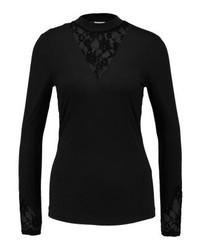 schwarzes T-shirt mit einer Knopfleiste von Jdy