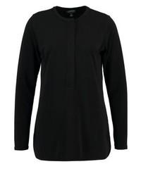 schwarzes T-shirt mit einer Knopfleiste von Ralph Lauren