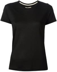 Schwarzes t shirt mit rundhalsausschnitt original 1311855