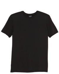 schwarzes T-Shirt mit Rundhalsausschnitt
