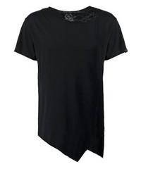 schwarzes T-Shirt mit einem Rundhalsausschnitt von Boom Bap