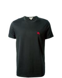 schwarzes T-Shirt mit einem Rundhalsausschnitt von Burberry