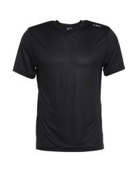 schwarzes T-Shirt mit einem Rundhalsausschnitt von CMP