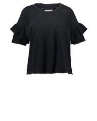 schwarzes T-Shirt mit einem Rundhalsausschnitt von Current/Elliott
