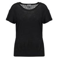 Schwarzes T-Shirt mit Rundhalsausschnitt von Filippa K