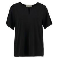 schwarzes T-Shirt mit einem Rundhalsausschnitt von Michael Kors