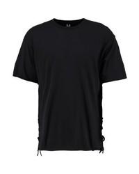 schwarzes T-Shirt mit einem Rundhalsausschnitt von New Look