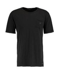 schwarzes T-Shirt mit einem Rundhalsausschnitt von ONLY & SONS