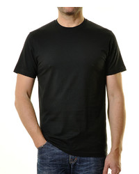 schwarzes T-Shirt mit einem Rundhalsausschnitt von RAGMAN