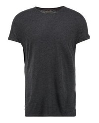 schwarzes T-Shirt mit einem Rundhalsausschnitt von Redefined Rebel