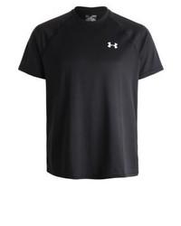 schwarzes T-Shirt mit einem Rundhalsausschnitt von Under Armour
