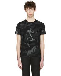 schwarzes T-Shirt mit einem Rundhalsausschnitt von Valentino