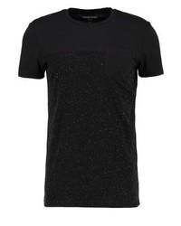 schwarzes T-Shirt mit einem Rundhalsausschnitt von YOURTURN