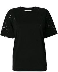 schwarzes T-shirt mit Sternenmuster von Stella McCartney