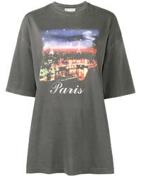 schwarzes T-shirt von Balenciaga