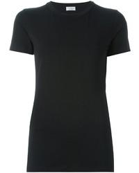schwarzes T-shirt von Brunello Cucinelli