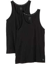 schwarzes T-shirt von Calvin Klein