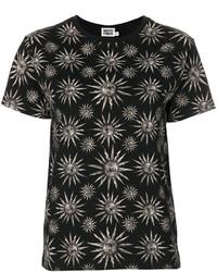 schwarzes T-shirt von Fausto Puglisi