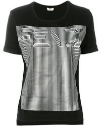schwarzes T-shirt von Fendi